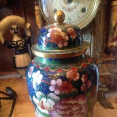 Antigüedades: ANTIGUO TIBOR DECORADO EN CLOISONNE.. Lote 90473819