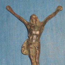 Antigüedades: ANTIGUO CRISTO BRONCE SIGLO XIX. Lote 90477189