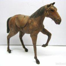 Antigüedades: 35 CM - CABALLO DE CUERO. Lote 90497065