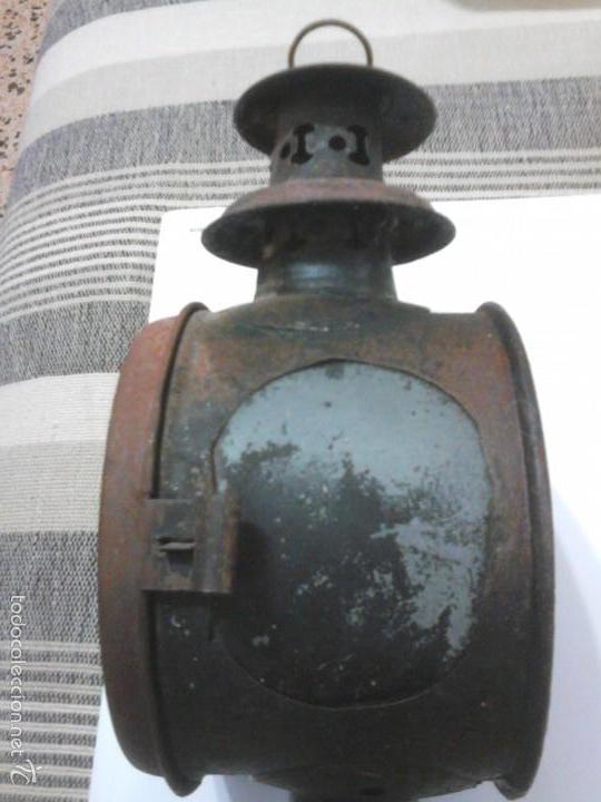 Antigüedades: Faro o farol de carro carruaje coche caballos del s xix farol de carro antiguo de hierro SIGLO XIX - Foto 5 - 59684691
