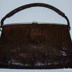 Antigüedades: BOLSO DE PIEL DE SERPIENTE - CIERRE DE METAL - AÑOS 30-40. Lote 90519545