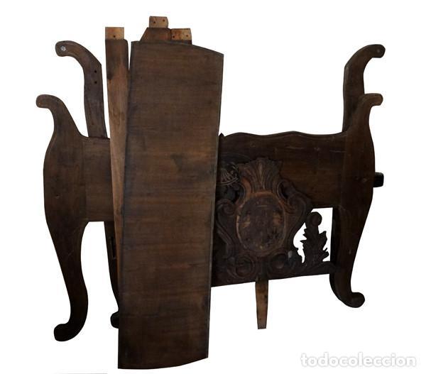 estructura de cama de madera con talla del s. x - Comprar Camas ...