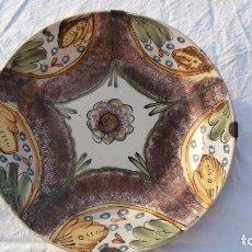 Antigüedades: PLATO EN CERAMICA DE RIBESALBES DE SIGLO XIX ESPONJADO. Lote 90571825