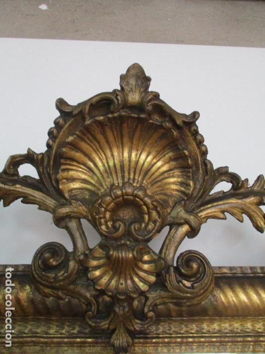Antigüedades: Antiguo Espejo - Cornucopia - Francia - Madera Tallada - Dorada con Pan de Oro - S. XIX - Foto 6 - 90576895