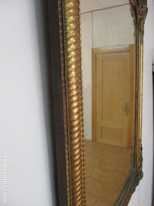 Antigüedades: Antiguo Espejo - Cornucopia - Francia - Madera Tallada - Dorada con Pan de Oro - S. XIX - Foto 7 - 90576895