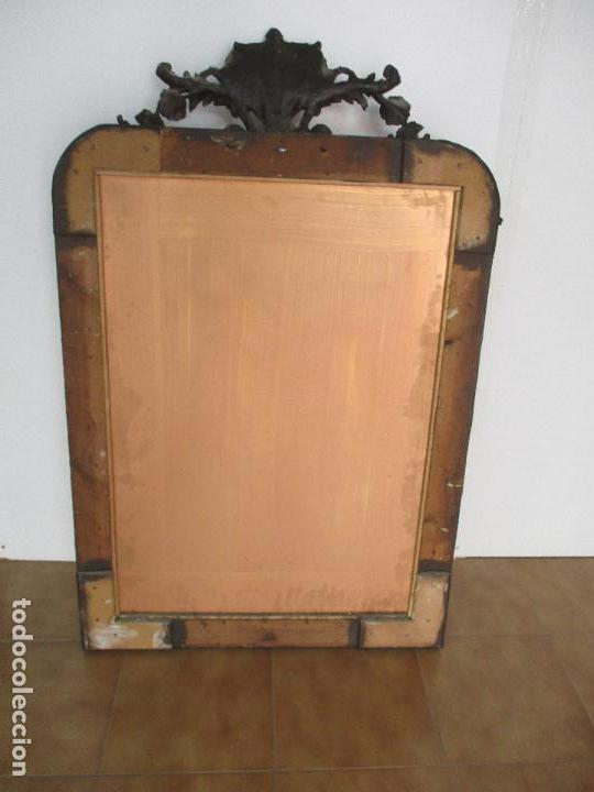Antigüedades: Antiguo Espejo - Cornucopia - Francia - Madera Tallada - Dorada con Pan de Oro - S. XIX - Foto 8 - 90576895