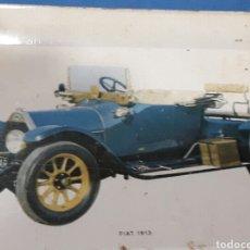 Antigüedades: ANTIGUA BANDEJITA EN LATA LITOGRAFIADA FIAT 1913 25'50CM. Lote 90583925
