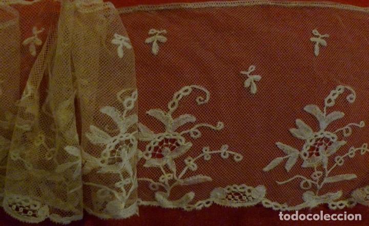 Antigüedades: ANTIGUO ENCAJE DE BRUSELAS S. XIX - Foto 3 - 90584895