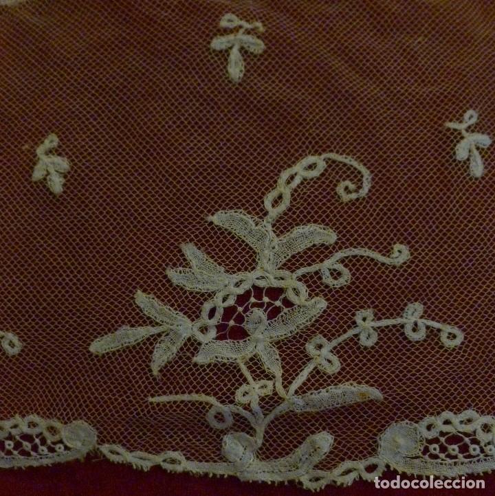 Antigüedades: ANTIGUO ENCAJE DE BRUSELAS S. XIX - Foto 5 - 90584895