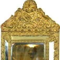 Antigüedades: ESPEJO EN METAL CINCELADO. ESPAÑA. XIX.. Lote 55332355