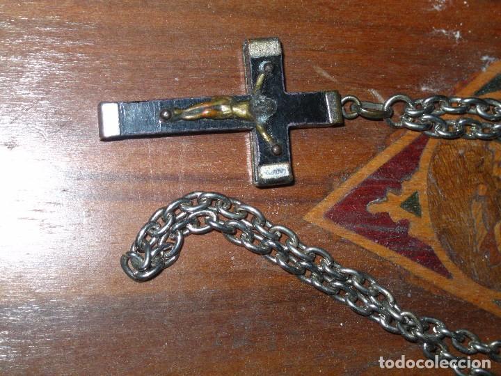 Antigüedades: ENVIO GRATIUITO CADENA GRANDE CON CRUZ DE ROSARIO PARA CHICO CHICA JOVEN - Foto 3 - 90616160