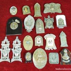 Antigüedades: COLECCION DE 19 ORNAMENTOS RELIGIOSOS. METAL Y RESINA. SIGLO XIX-XX. . Lote 90622305