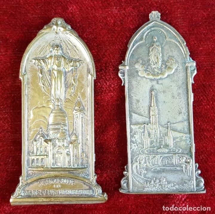 Antigüedades: COLECCION DE 19 ORNAMENTOS RELIGIOSOS. METAL Y RESINA. SIGLO XIX-XX. - Foto 3 - 90622305