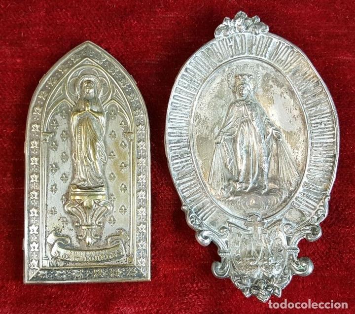 Antigüedades: COLECCION DE 19 ORNAMENTOS RELIGIOSOS. METAL Y RESINA. SIGLO XIX-XX. - Foto 7 - 90622305