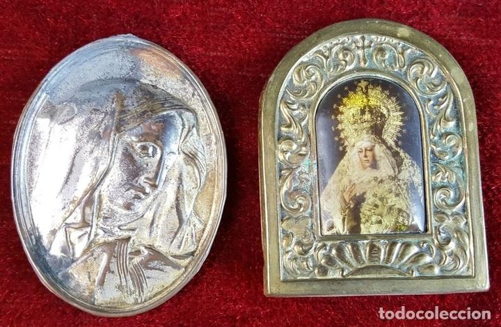 Antigüedades: COLECCION DE 19 ORNAMENTOS RELIGIOSOS. METAL Y RESINA. SIGLO XIX-XX. - Foto 8 - 90622305