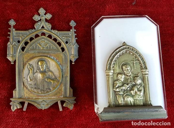 Antigüedades: COLECCION DE 19 ORNAMENTOS RELIGIOSOS. METAL Y RESINA. SIGLO XIX-XX. - Foto 9 - 90622305