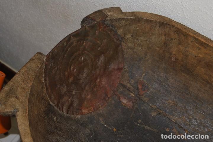 Antigüedades: ARTESA DE MADERA DE UNA SOLA PIEZA - PARA PAN O MATANZA - SIGLO XIX - ETNOGRAFÍA - Foto 4 - 90626615