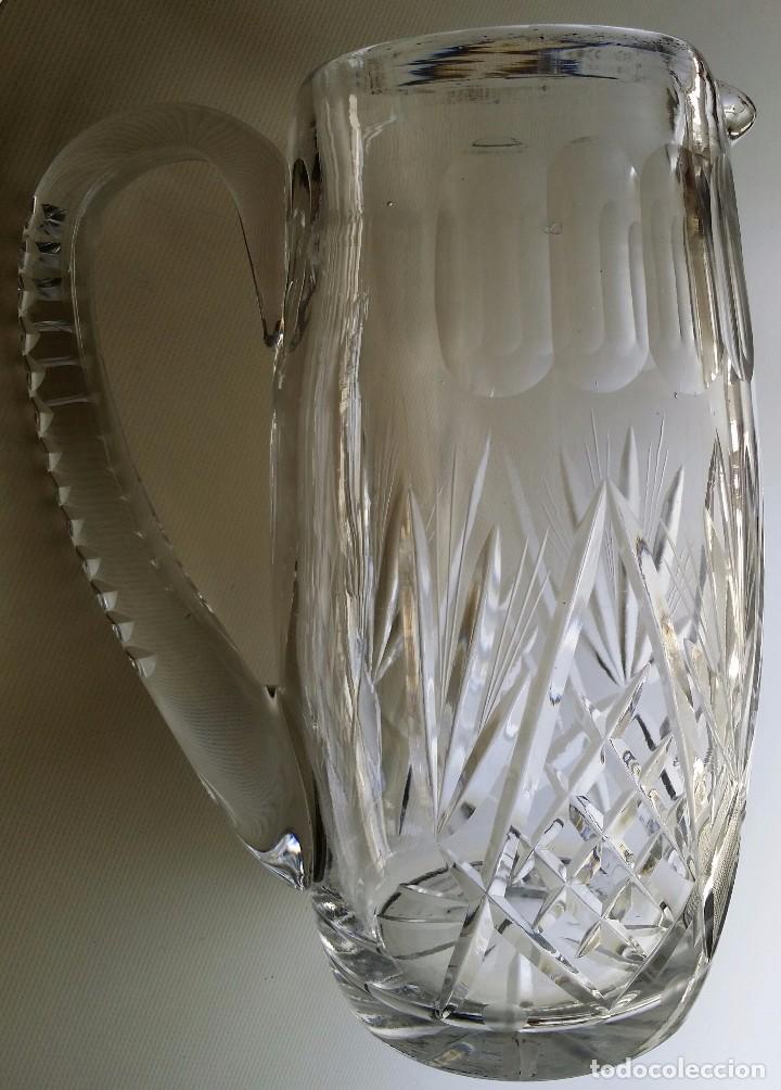 JARRA DE CRISTAL TALLADO BACCARAT O SAINT LOUIS PP S XX (Antigüedades - Cristal y Vidrio - Baccarat )
