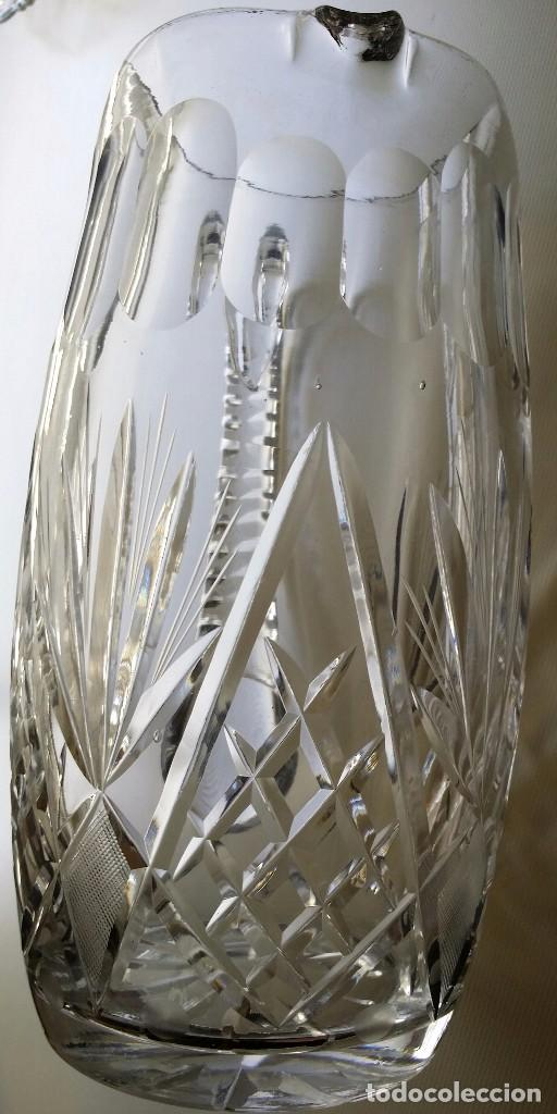 Antigüedades: JARRA DE CRISTAL TALLADO BACCARAT O SAINT LOUIS PP S XX - Foto 2 - 90680585