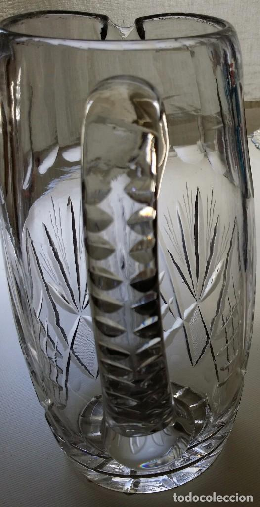 Antigüedades: JARRA DE CRISTAL TALLADO BACCARAT O SAINT LOUIS PP S XX - Foto 4 - 90680585