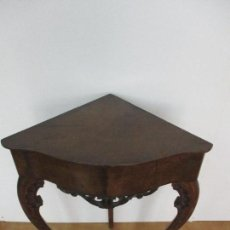 Antigüedades: ANTIGUA RINCONERA - REPISA - ISABELINA - MADERA DE CAOBA - PATAS CUBAS - BONITA TALLA - S. XIX. Lote 90694035