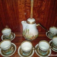 Antigüedades: JUEGO PARA CHOCOLATE DE LIMOGES. Lote 90744375