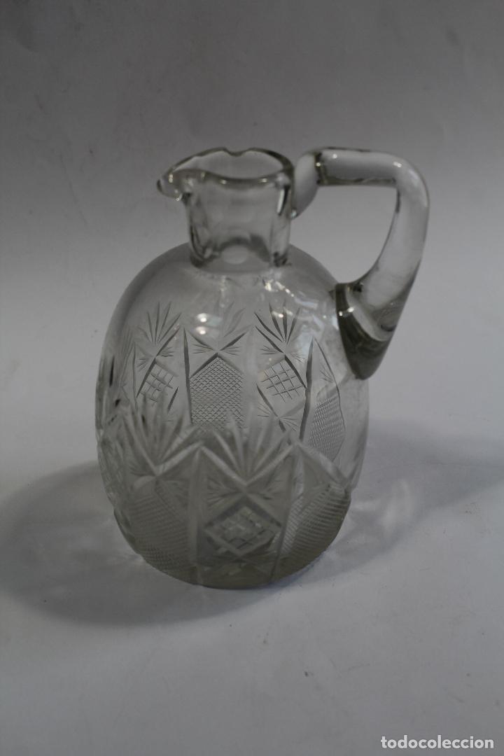 JARRA EN CRISTAL DE BOHEMIA (Antigüedades - Cristal y Vidrio - Bohemia)