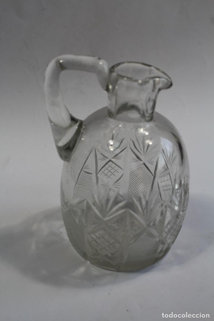 Antigüedades: jarra en cristal de bohemia - Foto 2 - 90752180