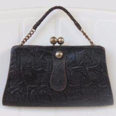Antigüedades: ANTIGUO ORIGINAL BOLSO PIEL. Lote 90799495