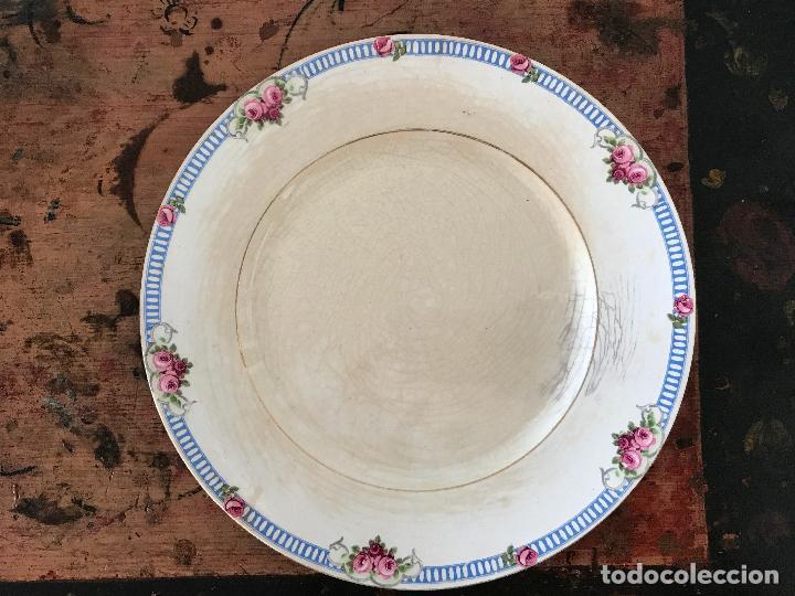 Antigüedades: Conjunto de 12 platos de cerámica antigua Sandeman Macdougall.Sello fábrica y tinta porcelana opaca - Foto 4 - 89789388