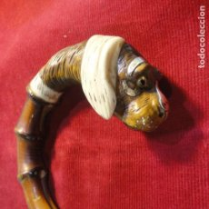 Antigüedades: BASTON BAMBU. Lote 90676090
