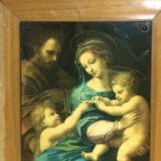 Antigüedades: CUADRO RELIGIOSO EN TABLA MADERA VITRIFICADO. Lote 90835144