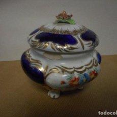 Antigüedades - Bombonera cerámica porcelana - 90836845