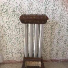 Antigüedades: CHIMENEA A GAS PORCELANA VIDRIADA. PIEZA ESPECTACULAR. Lote 90875360