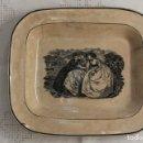 Antigüedades: BANDEJA O FUENTE RECTANGULAR DE LOZA FINA LA AMISTAD DE CARTAGENA, S. XIX. Lote 90888620