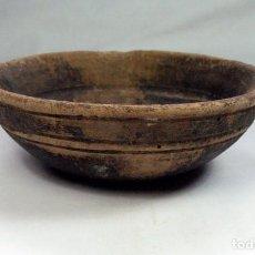 Antigüedades: ANTIGUO CUENCO EN MADERA ETNOGRAFIA ASTURIANA. ASTURIAS. Lote 90893165