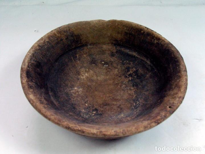 Antigüedades: ANTIGUO CUENCO EN MADERA ETNOGRAFIA ASTURIANA. ASTURIAS - Foto 2 - 90893165