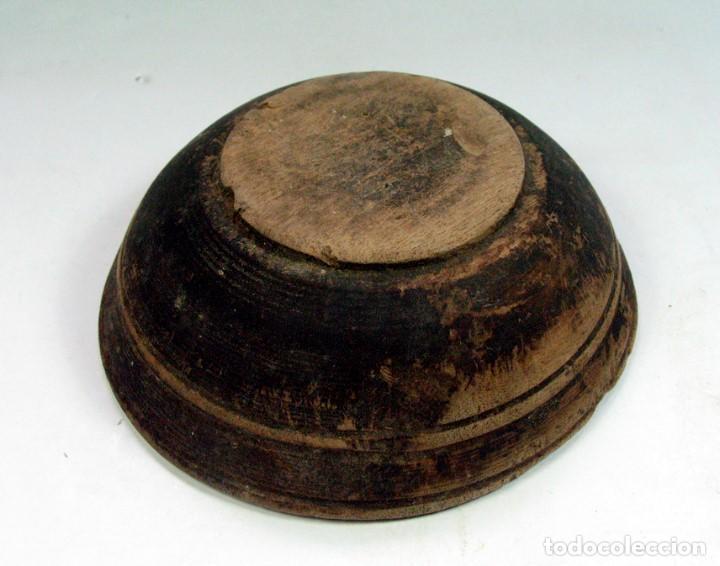 Antigüedades: ANTIGUO CUENCO EN MADERA ETNOGRAFIA ASTURIANA. ASTURIAS - Foto 3 - 90893165