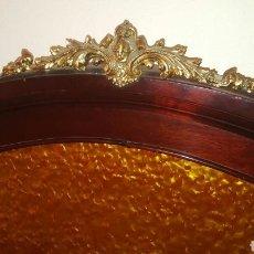 Antigüedades: CAMA MATRIMONIO 100 AÑOS CABEZAL Y PIE CON NACAR. Lote 90912808