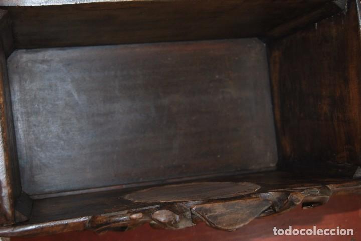 Antigüedades: MACETERO MODERNISTA DE MADERA TALLADA CON ESPEJO - JARDINERA - ART NOUVEAU - SIGLO XIX - Foto 9 - 90917165