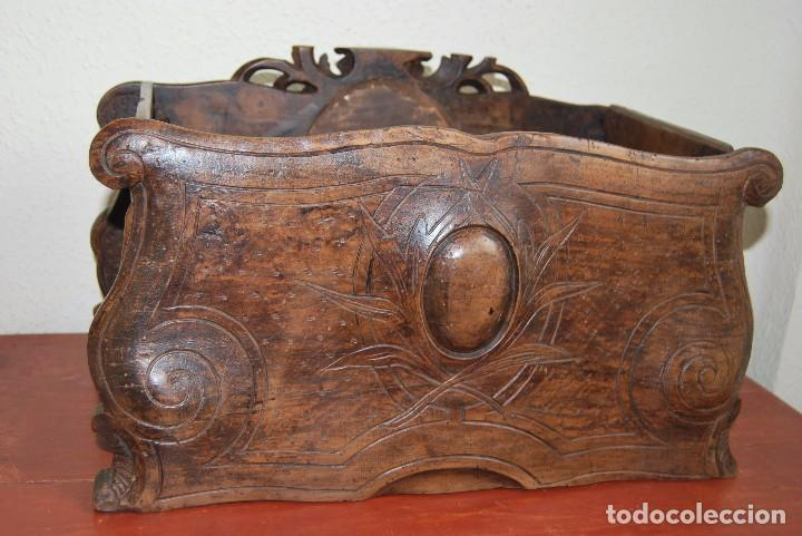 Antigüedades: MACETERO MODERNISTA DE MADERA TALLADA CON ESPEJO - JARDINERA - ART NOUVEAU - SIGLO XIX - Foto 13 - 90917165