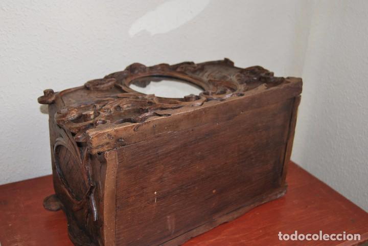 Antigüedades: MACETERO MODERNISTA DE MADERA TALLADA CON ESPEJO - JARDINERA - ART NOUVEAU - SIGLO XIX - Foto 20 - 90917165