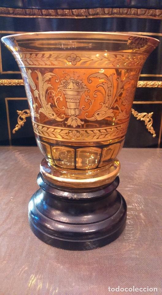 Antigüedades: Vaso de cristal de Bohemia Siglo XIX, hacia 1840 - Foto 3 - 90921300