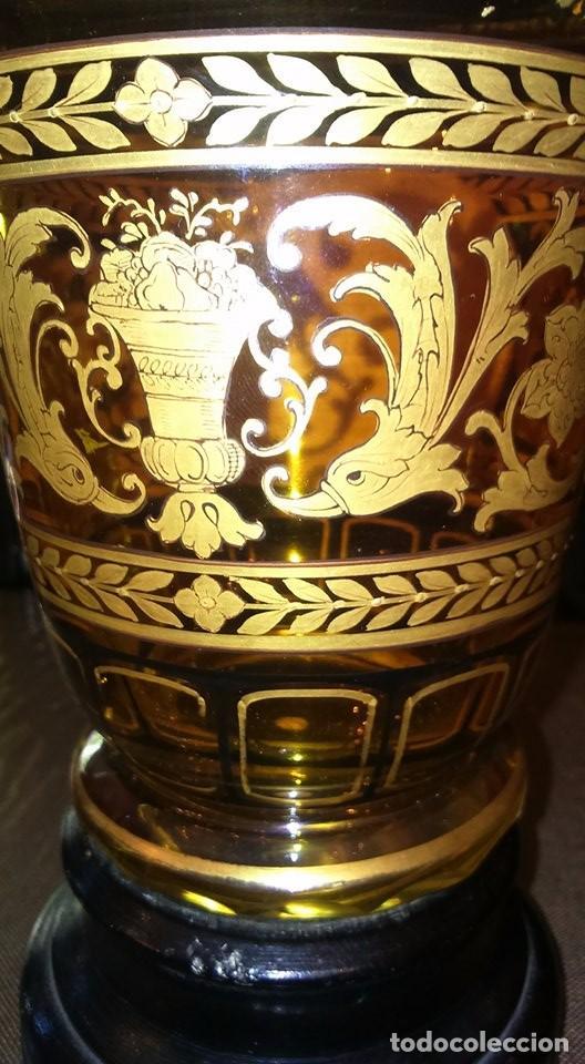 Antigüedades: Vaso de cristal de Bohemia Siglo XIX, hacia 1840 - Foto 4 - 90921300