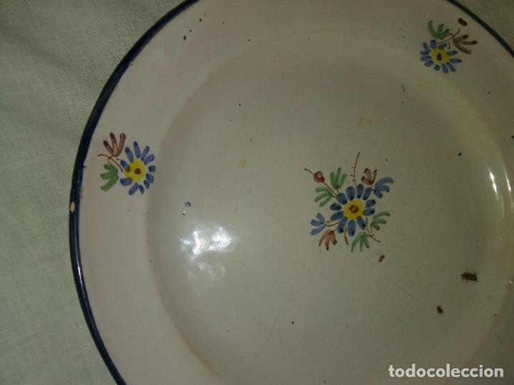 Antigüedades: PLATO CERAMICA ALCORA 1800 SERIE RAMITO FIRMADO - Foto 2 - 90937395