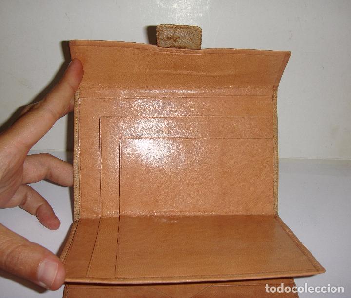 Antigüedades: CARTERA DE PIEL DE SERPIENTE (100% autentica) - AÑOS 50 - CONSERVA LA CAJA (SIN ESTRENAR) - Foto 5 - 33851443