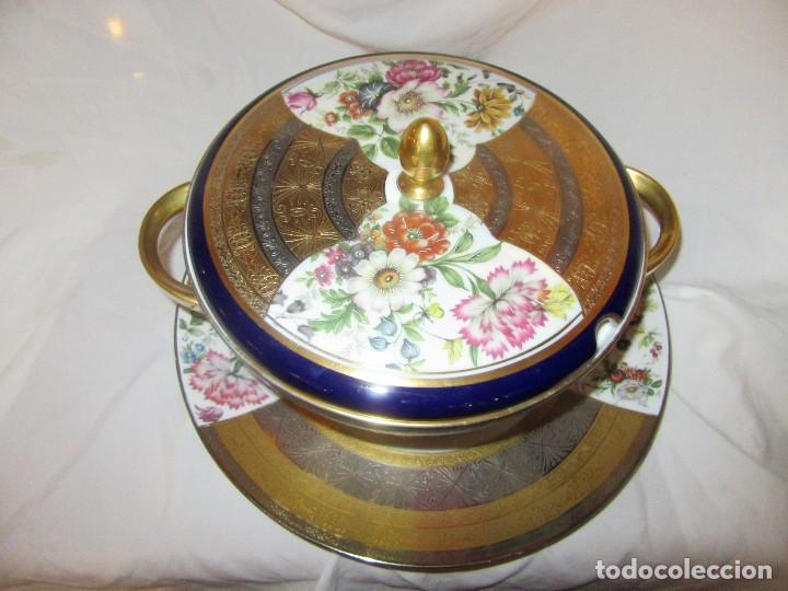 SOPERA Y PLATO PORCELANA ALEMANA HUSCHENREUTHER (Antigüedades - Porcelana y Cerámica - Alemana - Meissen)