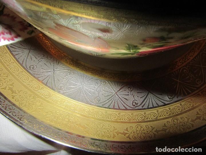 Antigüedades: SOPERA Y PLATO PORCELANA ALEMANA HUSCHENREUTHER - Foto 14 - 90965585