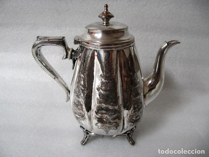Antigüedades: Tetera INGLESA repujada electroplata 630 gramos SELLO WARRANTED ENGLISH ELECTROPLATE - Foto 4 - 90968910