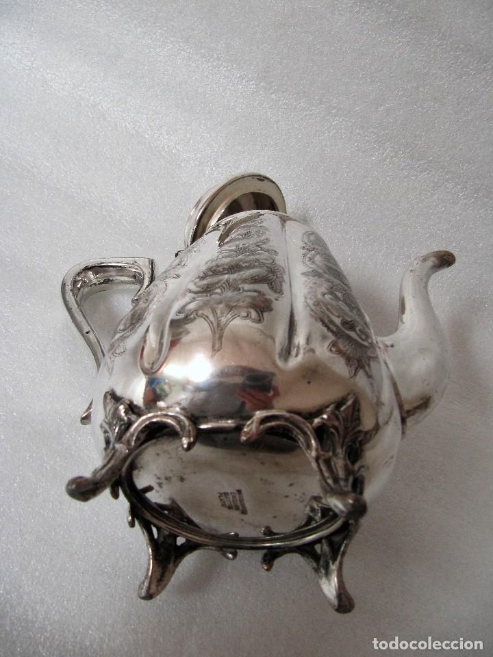 Antigüedades: Tetera INGLESA repujada electroplata 630 gramos SELLO WARRANTED ENGLISH ELECTROPLATE - Foto 7 - 90968910